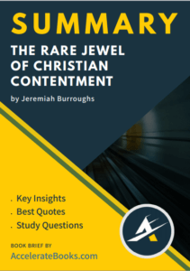Book Summary of The Rare Jewel of Christian Contentment by Jeremiah Burroughs